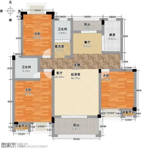 财茂香溢华府3室0厅2卫1厨141.00㎡户型图