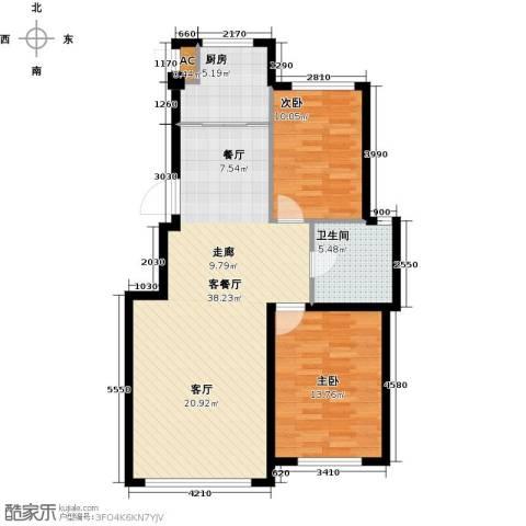 沈阳绿色家园2室1厅1卫1厨82.00㎡户型图