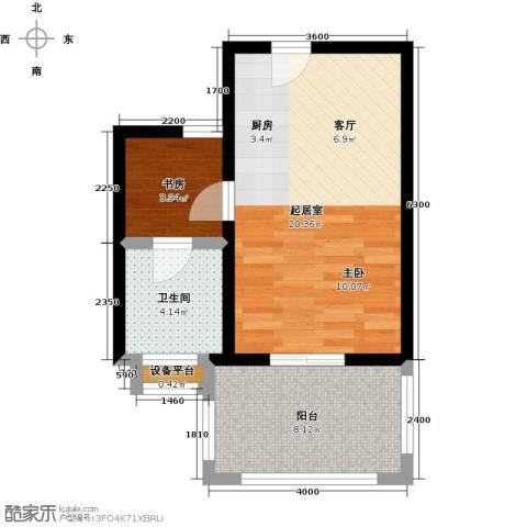 海景城1室0厅1卫0厨52.00㎡户型图