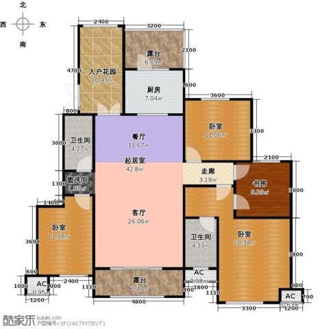 昆玉府1室0厅2卫1厨165.00㎡户型图
