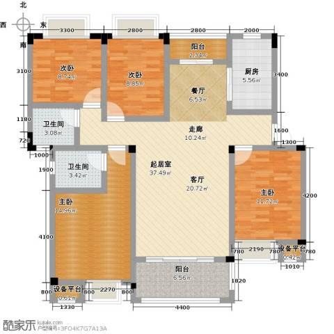 财茂香溢华府4室0厅2卫1厨152.00㎡户型图