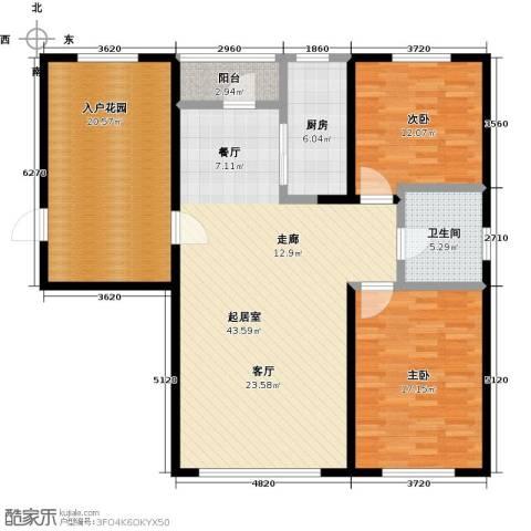 盛景公馆2室0厅1卫1厨122.00㎡户型图