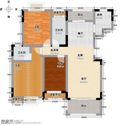 财茂香溢华府3室0厅2卫1厨136.00㎡户型图
