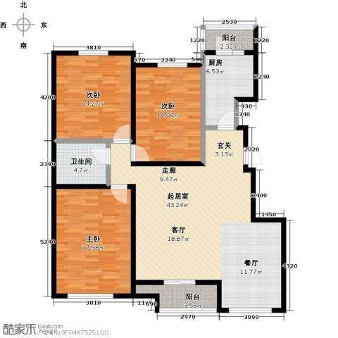燕云台3室0厅1卫1厨122.00㎡户型图