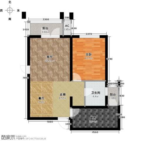 天津和平时光1室1厅1卫1厨73.00㎡户型图
