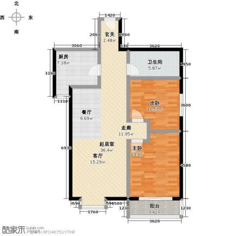 燕云台2室0厅1卫1厨89.00㎡户型图
