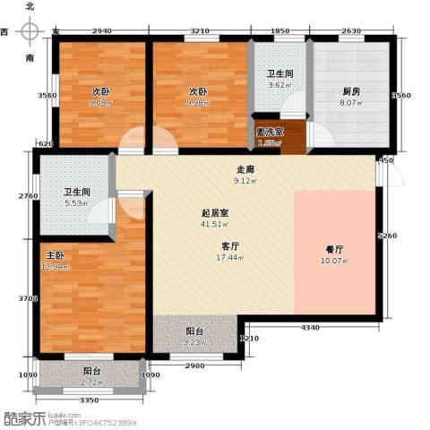燕云台3室0厅2卫1厨108.00㎡户型图
