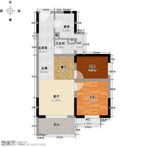 高科花漾年华2室0厅1卫1厨79.00㎡户型图