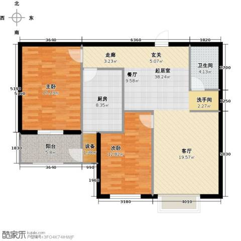 金沃向阳城2室0厅1卫1厨97.00㎡户型图