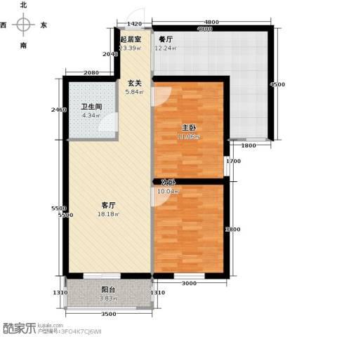 上第LOHAS2室1厅1卫0厨92.00㎡户型图