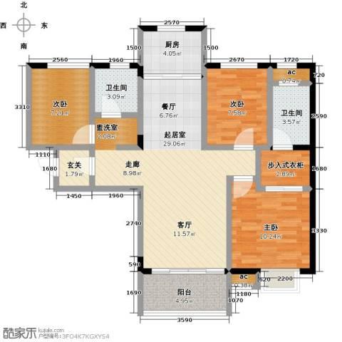 中骏四季阳光3室0厅2卫1厨112.00㎡户型图