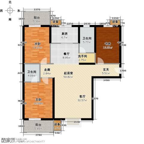 金沃向阳城3室0厅2卫1厨135.00㎡户型图
