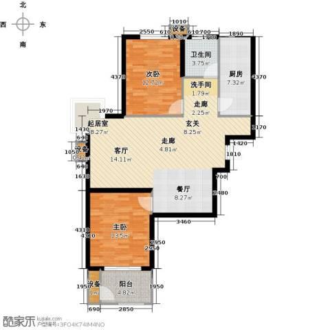 金沃向阳城2室0厅1卫1厨93.00㎡户型图