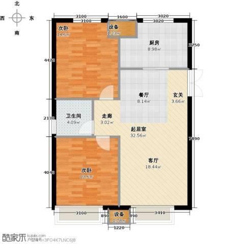 绿地高科城2室0厅1卫1厨83.00㎡户型图