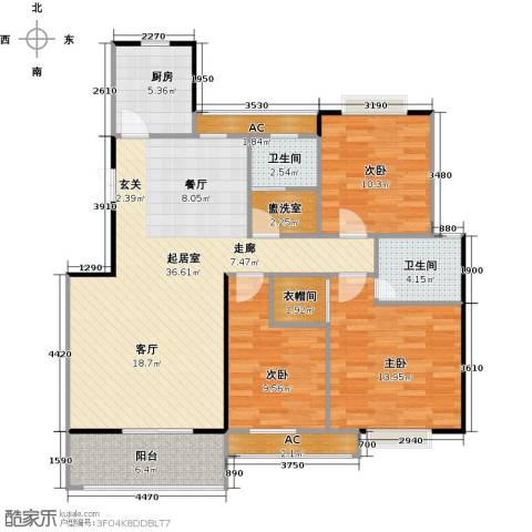 长房东郡(二期)3室0厅2卫1厨132.00㎡户型图
