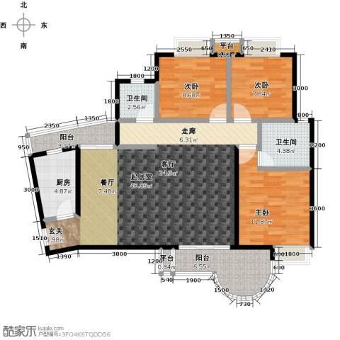 三元极第3室0厅2卫1厨121.00㎡户型图
