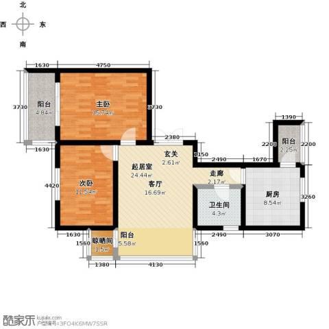 哈尔滨提拉米苏2室0厅1卫1厨106.00㎡户型图