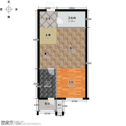 天津和平时光1厅1卫1厨63.00㎡户型图