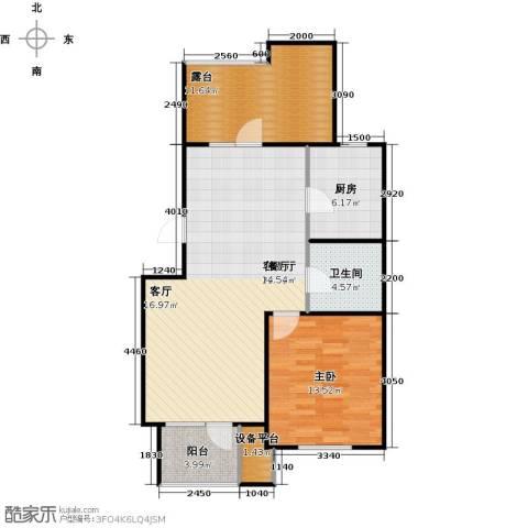 芒果郡1室1厅1卫1厨98.00㎡户型图