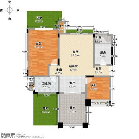 昕晖香缇漫城2室0厅1卫1厨127.00㎡户型图
