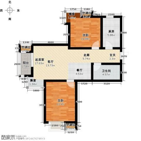 津品鉴筑2室0厅1卫1厨89.00㎡户型图