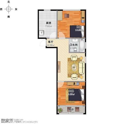 南塘浜路121号2室1厅1卫1厨65.00㎡户型图