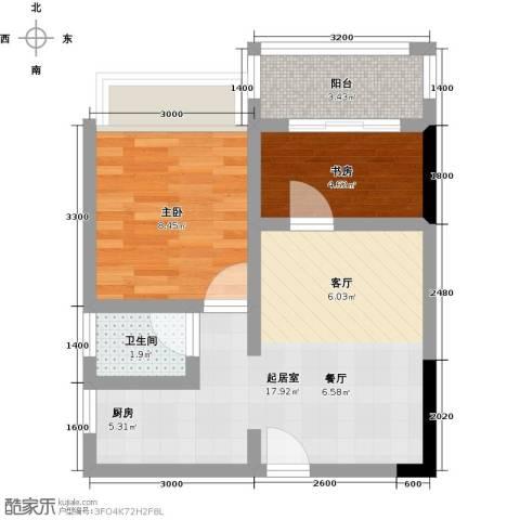 历昌华庭2室0厅1卫0厨58.00㎡户型图