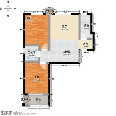 米苏阳光2室0厅1卫1厨94.00㎡户型图