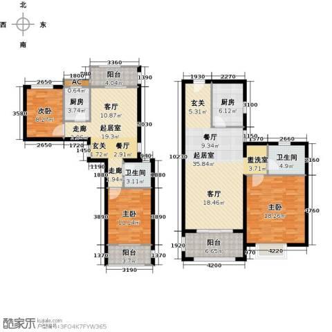 翠城华庭3室0厅2卫2厨177.00㎡户型图