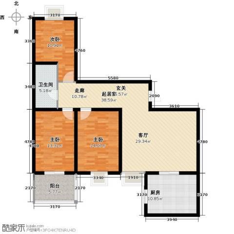 欣欣家园3室0厅1卫1厨134.00㎡户型图