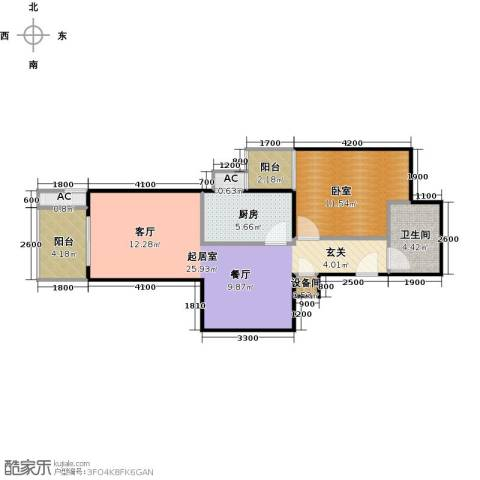 瑞丽江畔1卫1厨72.00㎡户型图