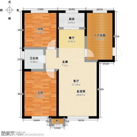 盛景公馆2室0厅1卫1厨96.00㎡户型图