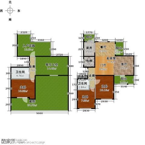 弘润金茂府3室0厅2卫1厨156.00㎡户型图