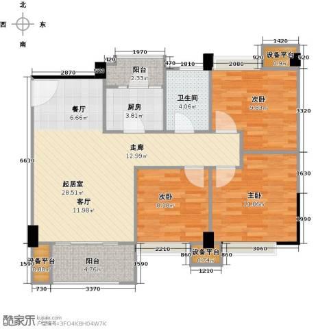 城南壹�3室0厅1卫1厨103.00㎡户型图