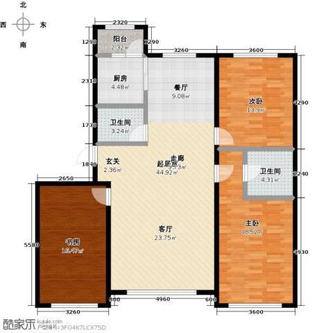 香格里拉花园3室0厅2卫1厨120.00㎡户型图