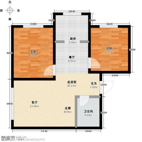 香格里拉花园2室0厅1卫0厨70.00㎡户型图