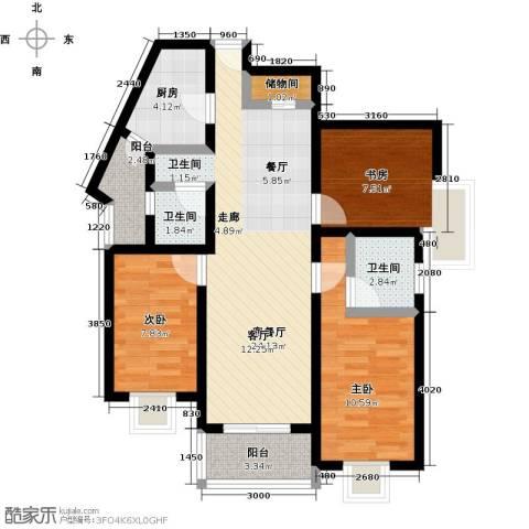 阳光威尼斯(阳光建华城四期)3室1厅2卫1厨116.00㎡户型图