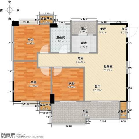 城南壹�3室0厅1卫1厨114.00㎡户型图