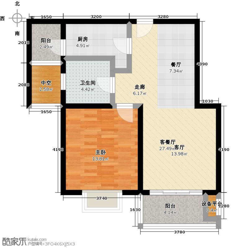 达安春之声二期60.00㎡一房二厅一卫-69平方米-15套户型