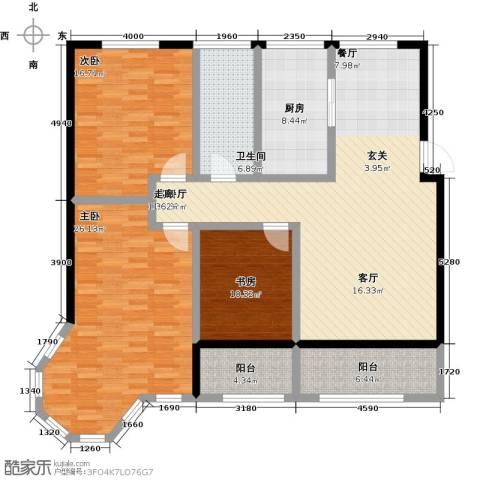 蓝钻庄园3室1厅1卫1厨169.00㎡户型图