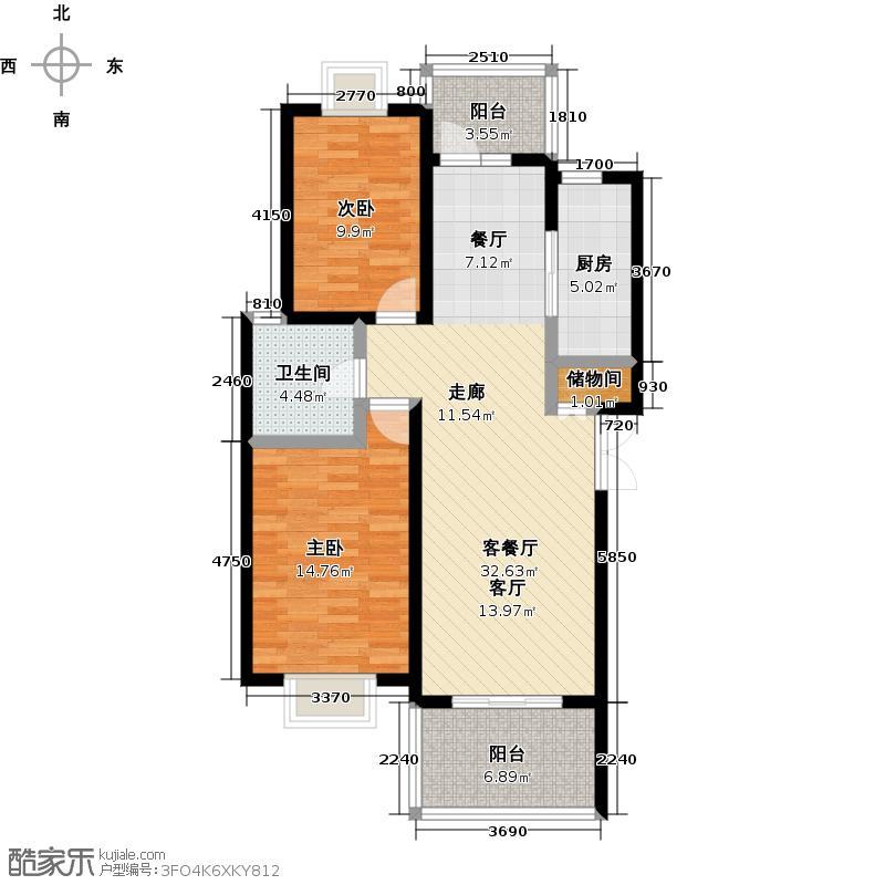 阳光威尼斯(阳光建华城四期)95.00㎡房型: 二房; 面积段: 95 -115 平方米;户型