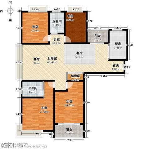 宝龙香槟湖4室0厅2卫1厨154.00㎡户型图