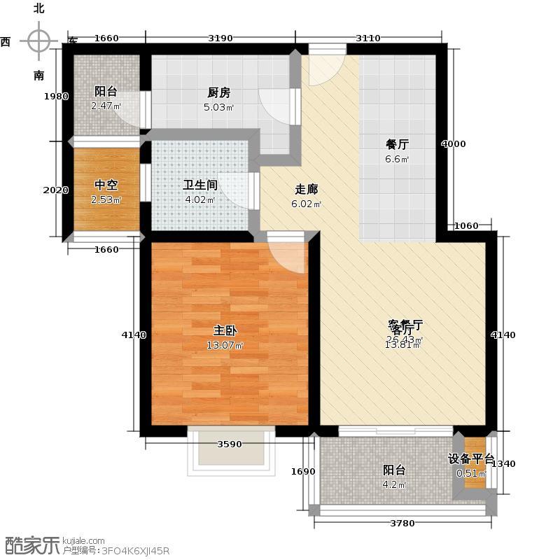 达安春之声二期60.00㎡一房二厅一卫-68平方米-15套户型
