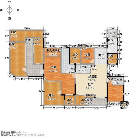 昆承湖国际花园3室0厅3卫1厨232.00㎡户型图