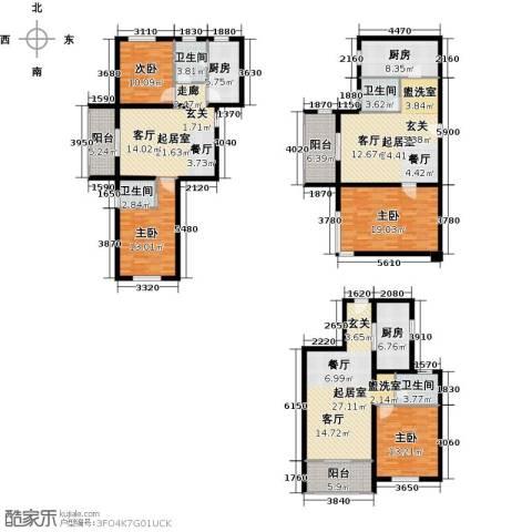 翠城华庭4室0厅4卫3厨256.00㎡户型图