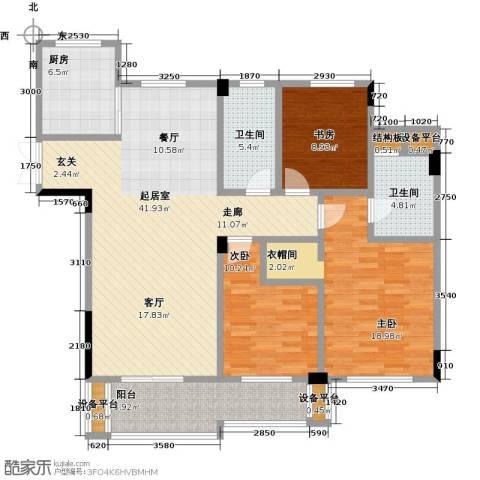 佳源东方巴黎城3室0厅2卫1厨154.00㎡户型图
