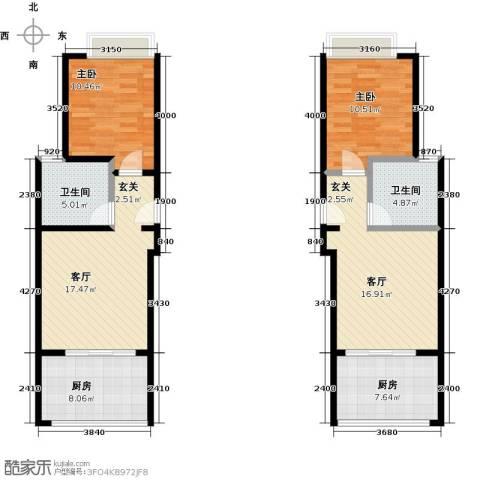 泉倾天下2室2厅2卫2厨80.92㎡户型图