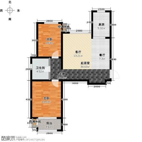 金桥澎湖山庄2室0厅1卫1厨89.00㎡户型图
