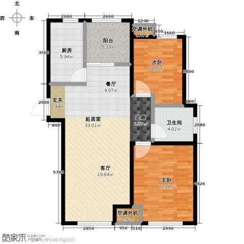 金桥澎湖山庄2室0厅1卫1厨103.00㎡户型图