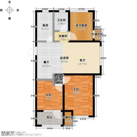 金桥澎湖山庄2室0厅1卫1厨94.00㎡户型图